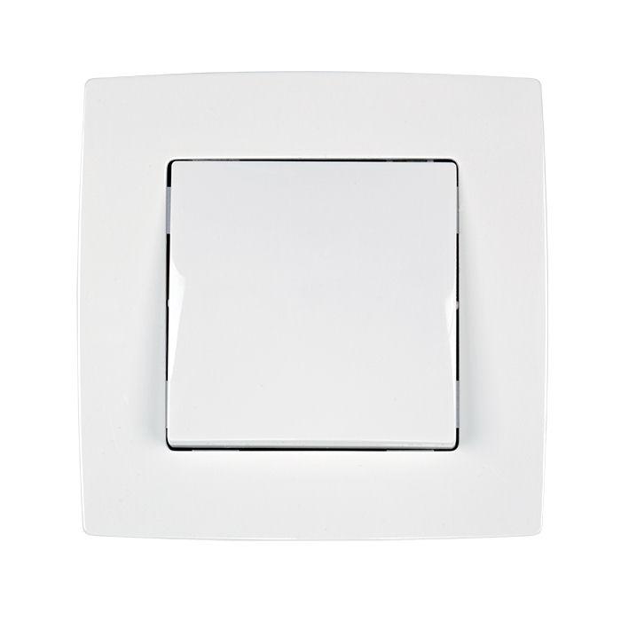 Διακόπτης Μεσαίος Aller Retour Λευκός Μεταλλιζέ 190031 |