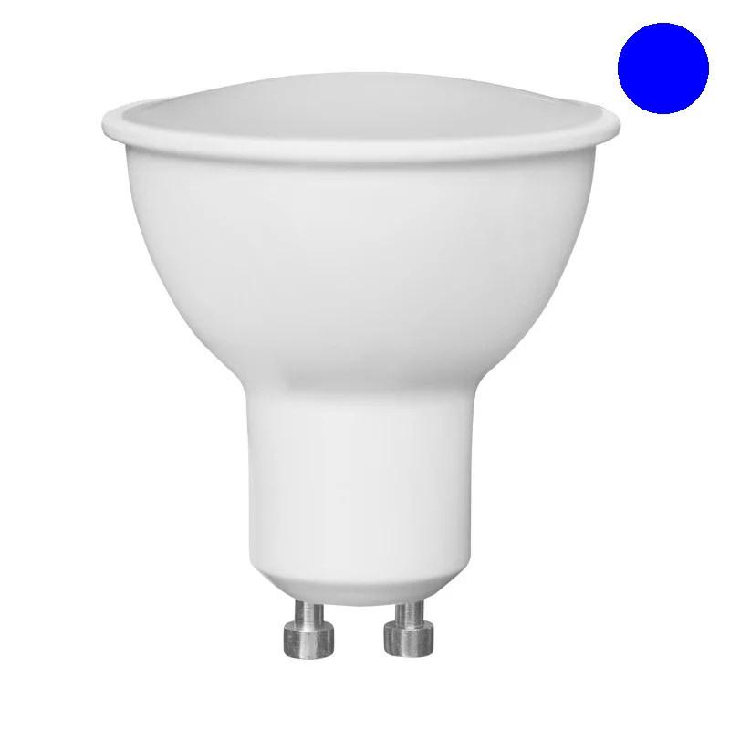 LED Σπότ GU10 6W 120˚ 230VAC ΜΠΛΕ |