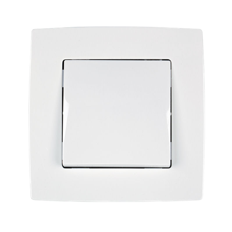 Διακόπτης Απλός Λευκός Μεταλλιζε 190011 |