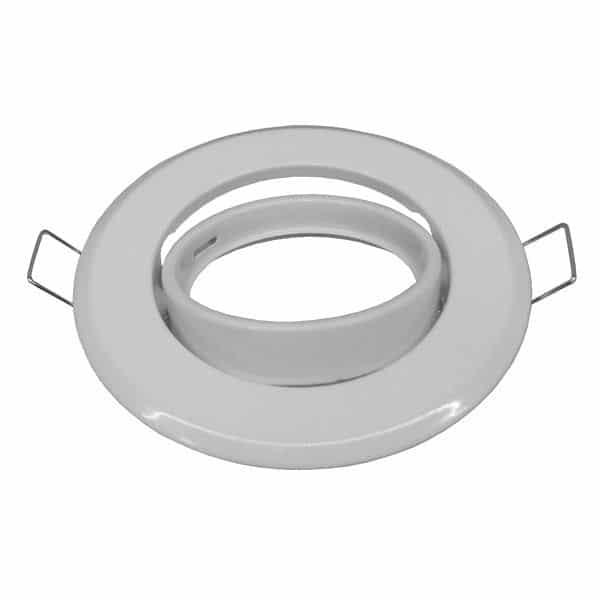 Χωνευτή Στρογγυλή Βάση για Spot Φ92 Λευκή Κινούμενη |