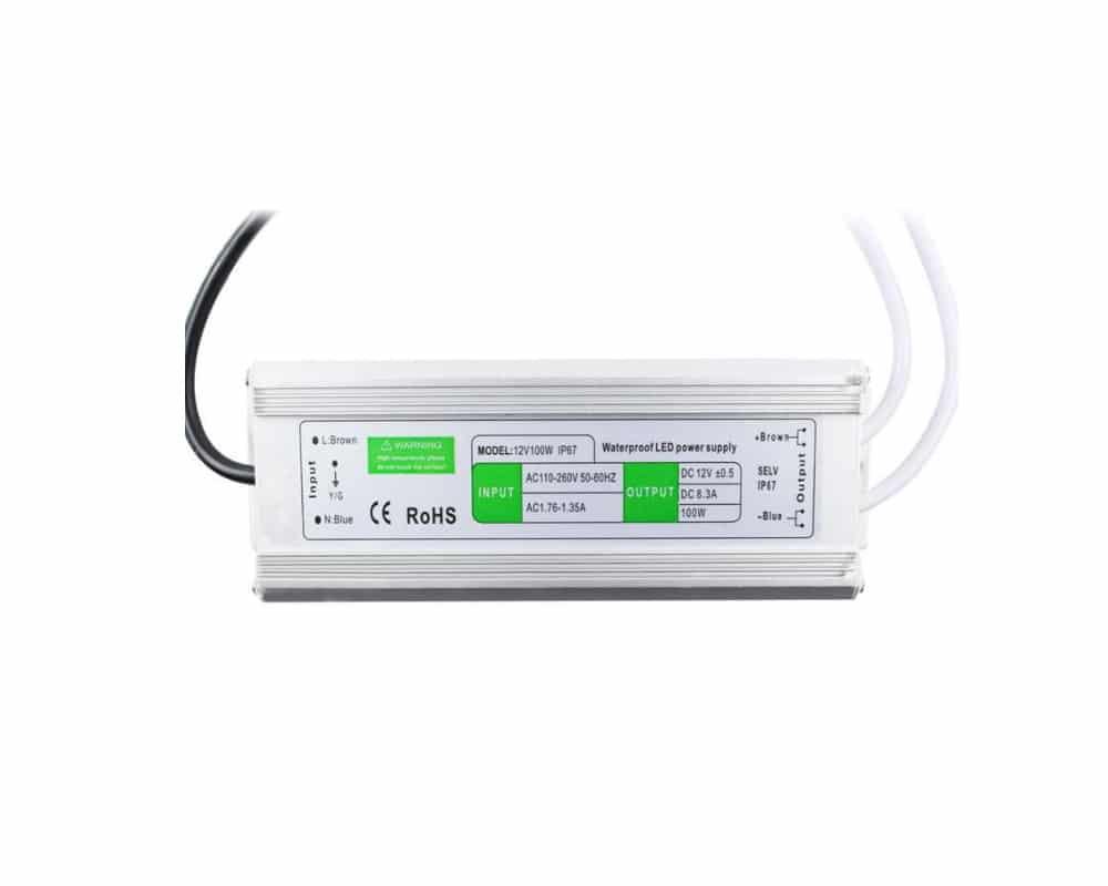 Αδιάβροχο Τροφοδοτικό 100W 12VDC IP67 |
