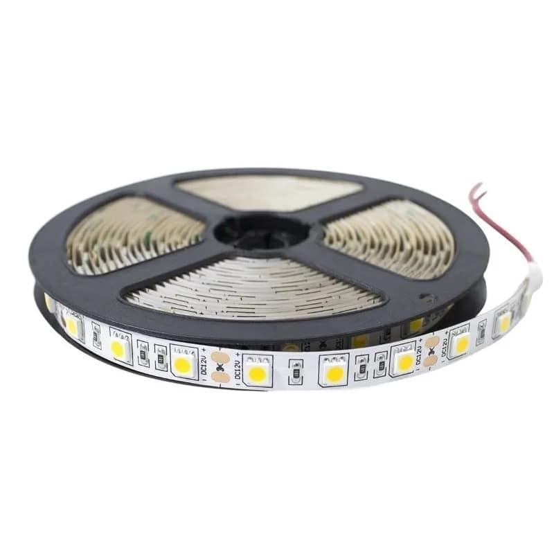 Ταινία LED 14.4W 60LED 5050 12VDC Λευκό Ημέρας IP20  