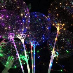Διάφανο Μπαλόνι Φωτιζόμενο με LED 30cm