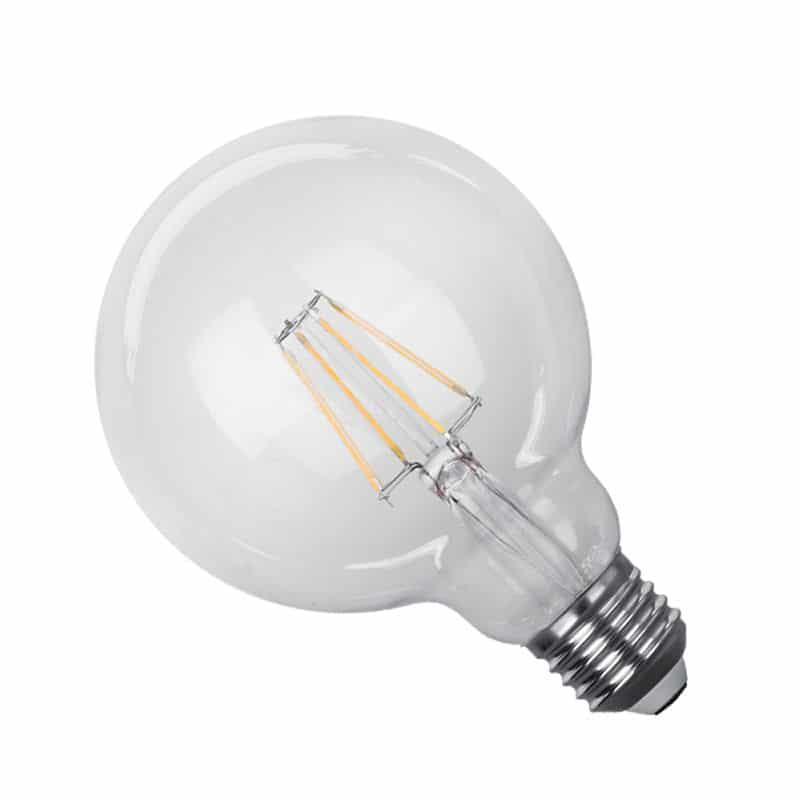 Γλόμπος LED Filament E27 4 Watt G95 Θερμό Dimmable