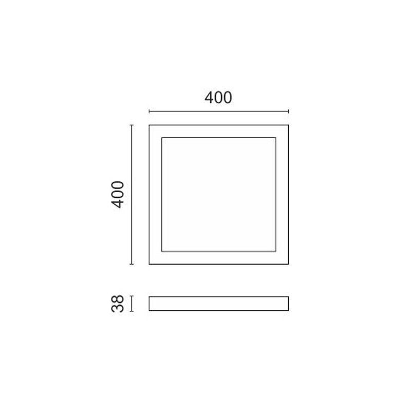 Εξωτερικό Πάνελ LED Τετράγωνο 40Χ40 36W Λευκό Ημέρας