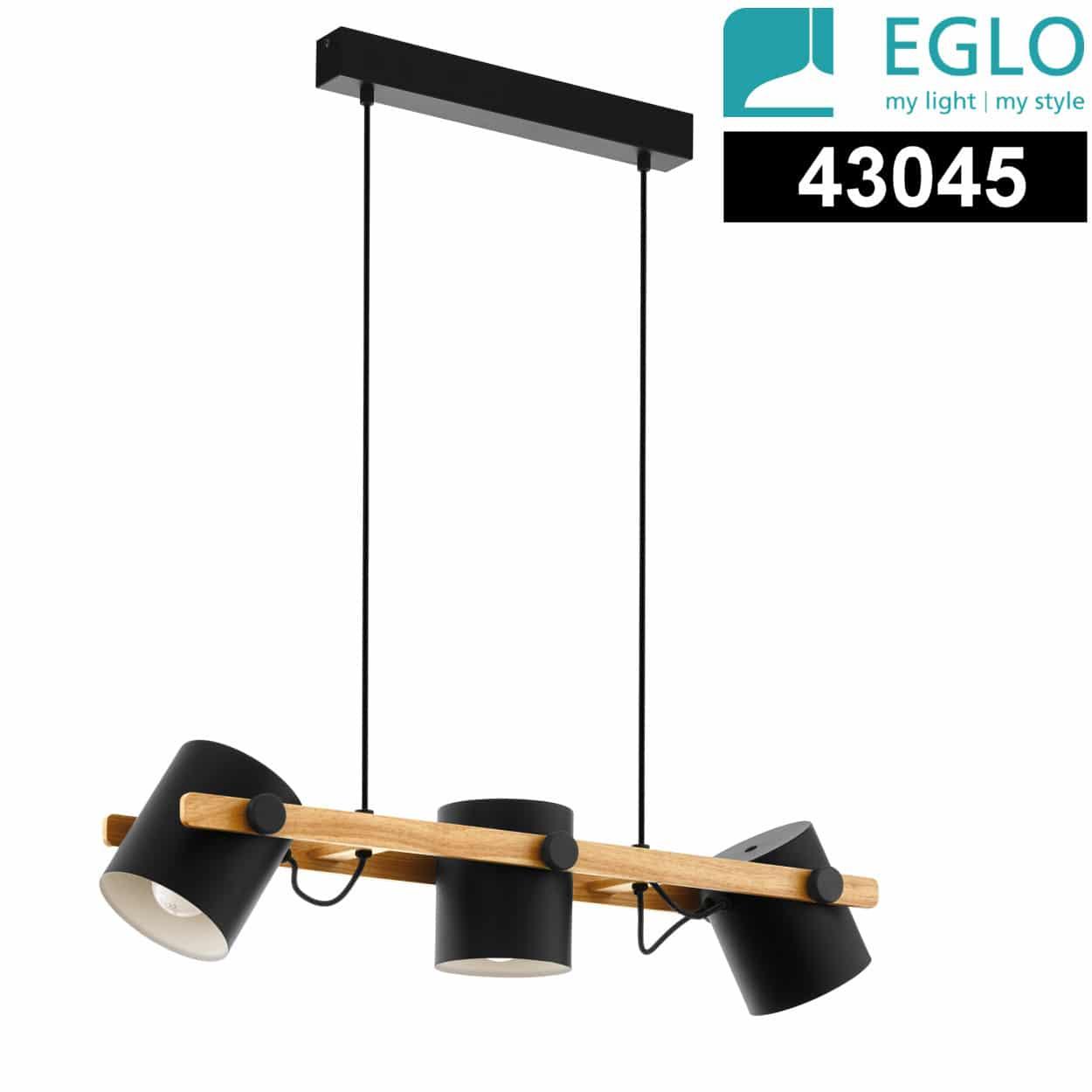 Φωτιστικό EGLO HORNWOOD 3ΧΕ27 L780 43045