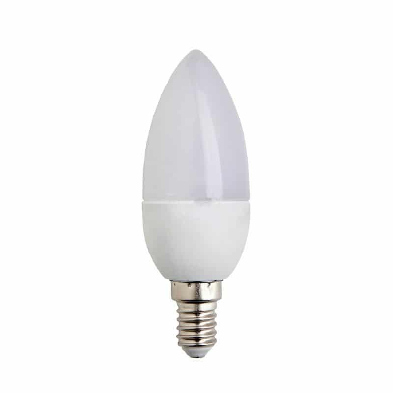 Κεράκι LED E14 4W 230VAC Λευκό Ψυχρό